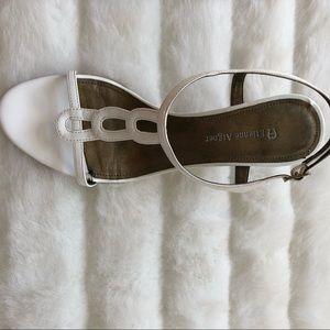 faf084d6dc4 Etienne Aigner Shoes - Étienne Aigner White Heeled Sandals